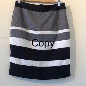 Sz4 stretch Cleo petites striped skirt